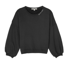 Load image into Gallery viewer, AMO Easy Sweatshirt w/ Embroidery - Faded  Black
