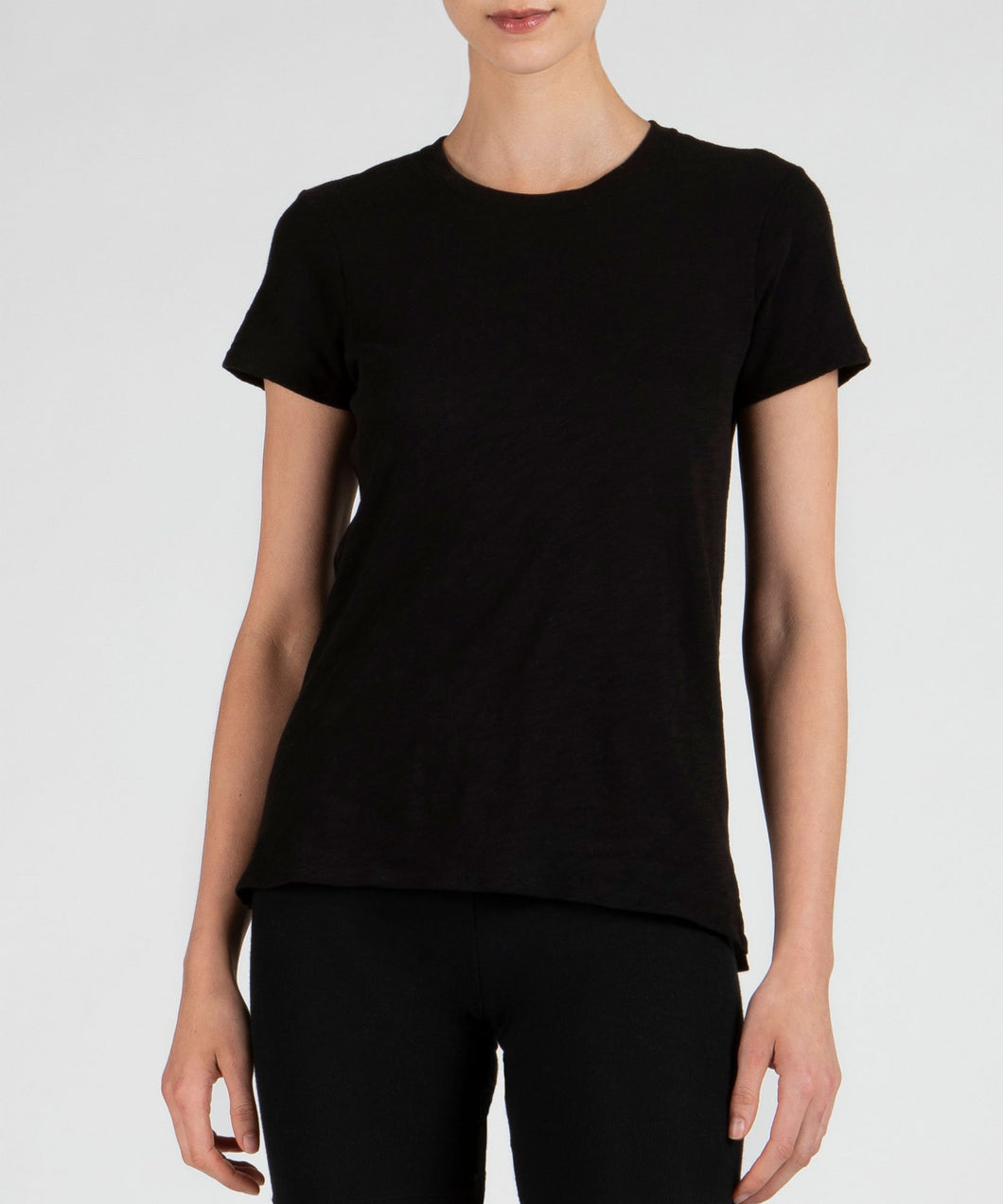 ATM Anthony Thomas Melillo Black Schoolboy Crew Tee