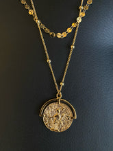 Load image into Gallery viewer, Seraphine Design Double Chain Coin Necklace