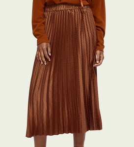 Maison Scotch Pleated Midi Skirt