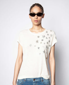 Zadig & Voltaire Skinny Stars Strass Tee
