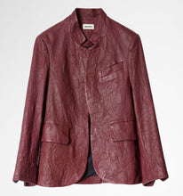 Load image into Gallery viewer, Zadig & Voltaire Verys Burgundy Leather Jacket