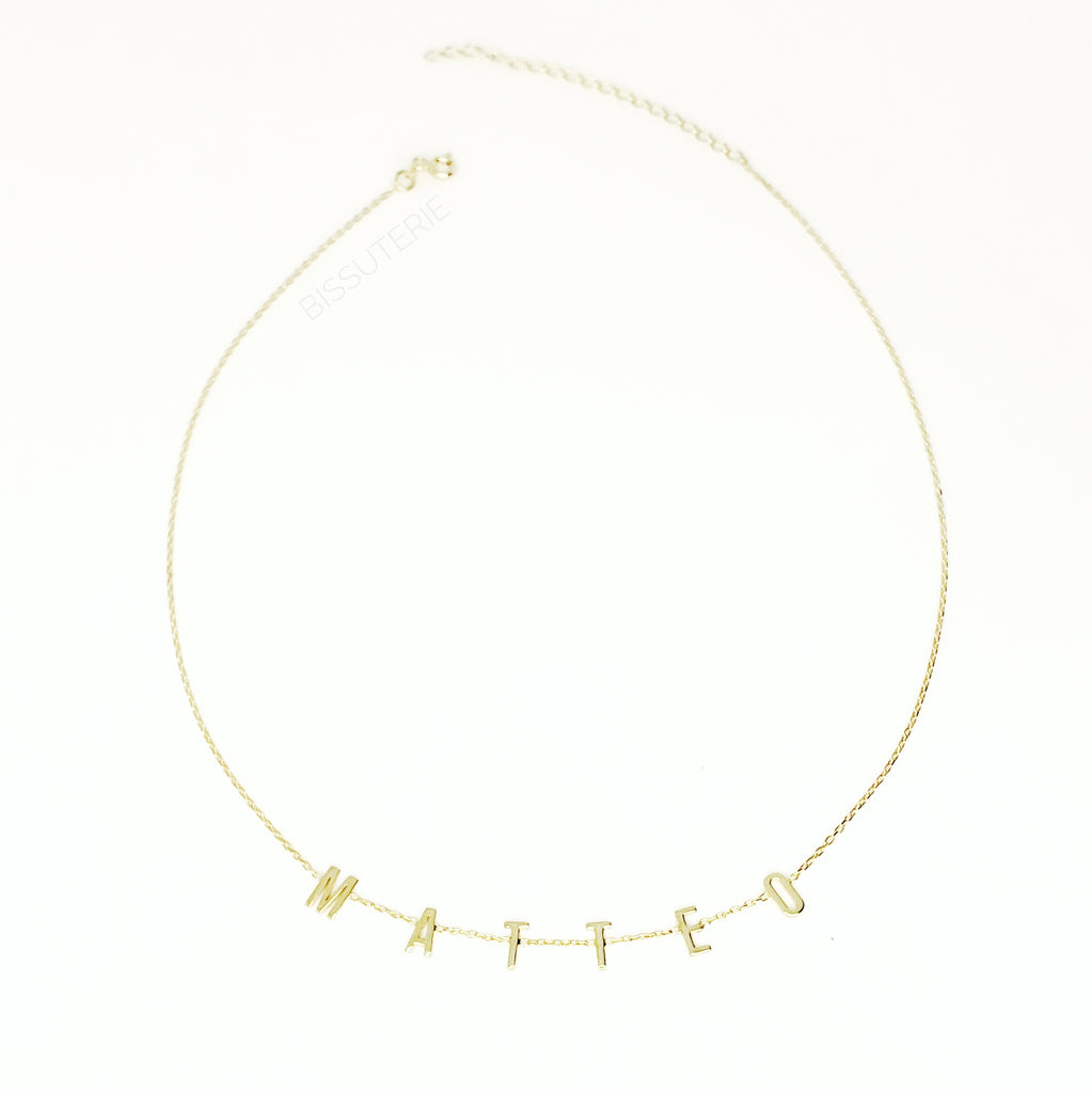 Delicate Uppercase Necklace