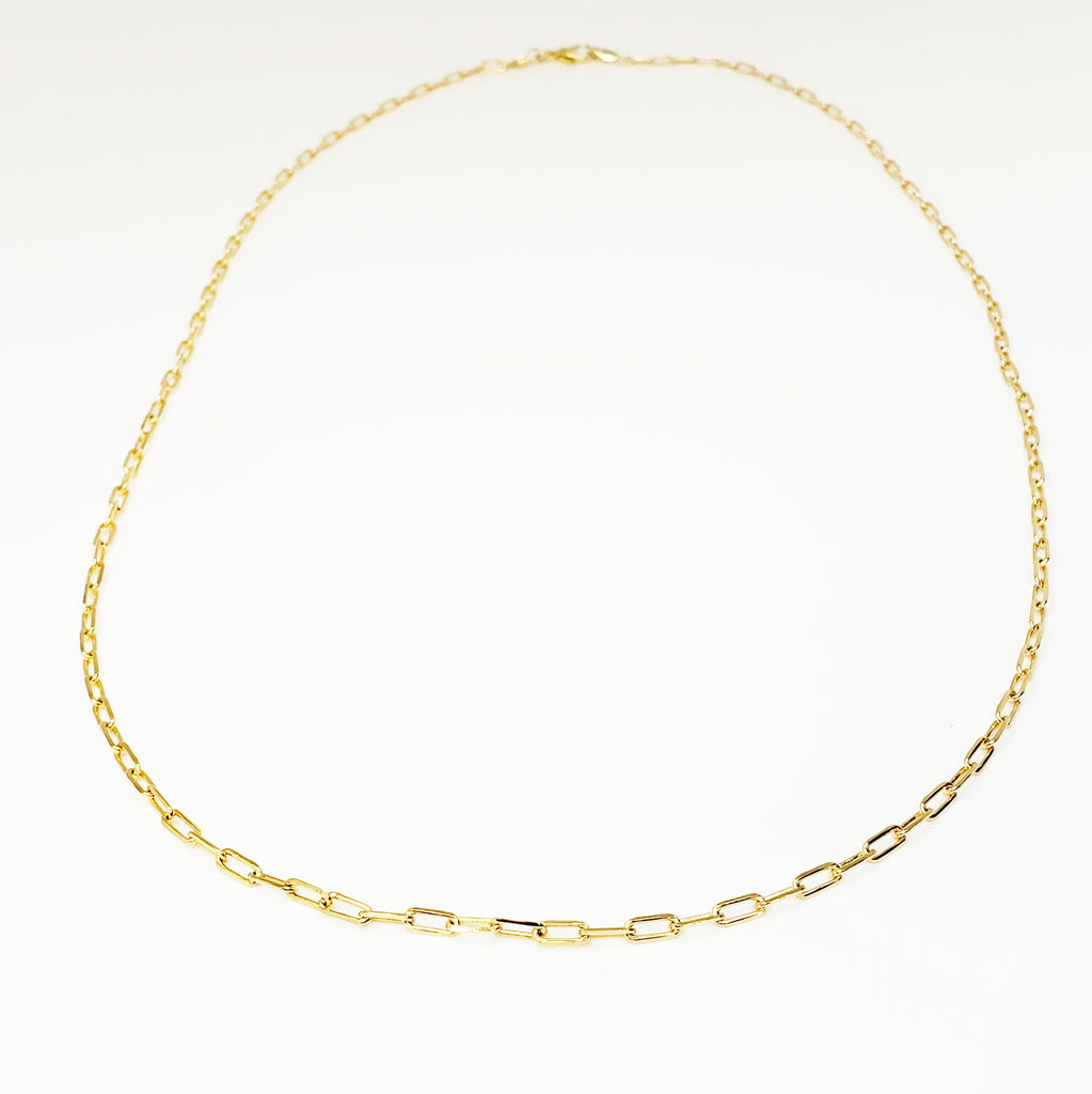 Thin Paper Clip Necklace