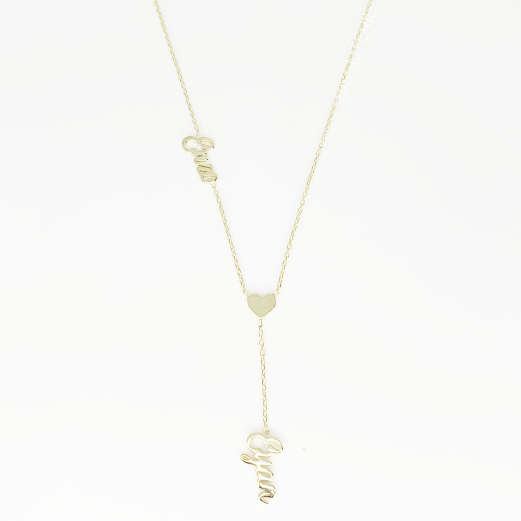 Lariat Cursive Name with Heart