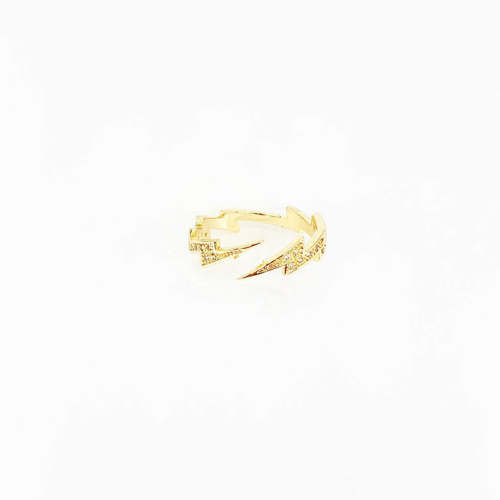 Lightning Gold Ring