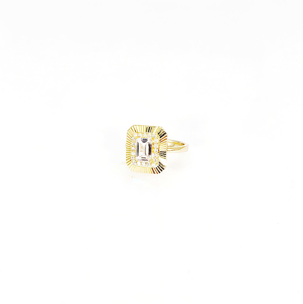 Square Gold Rings