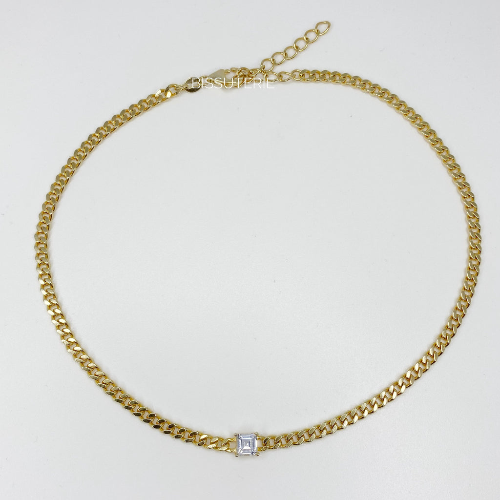 Cuban Choker square diamond