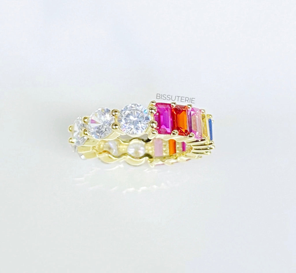 Half and half Rainbow Ring
