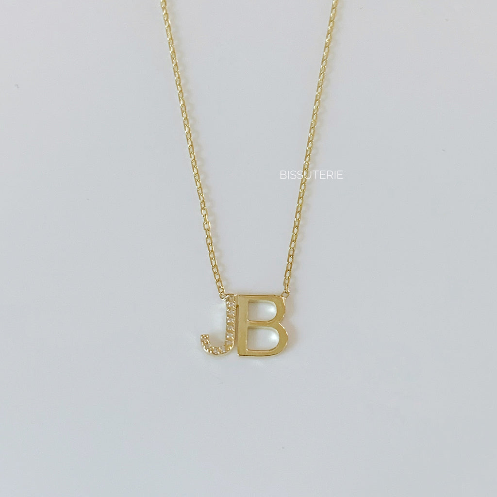 Initials pave and plain
