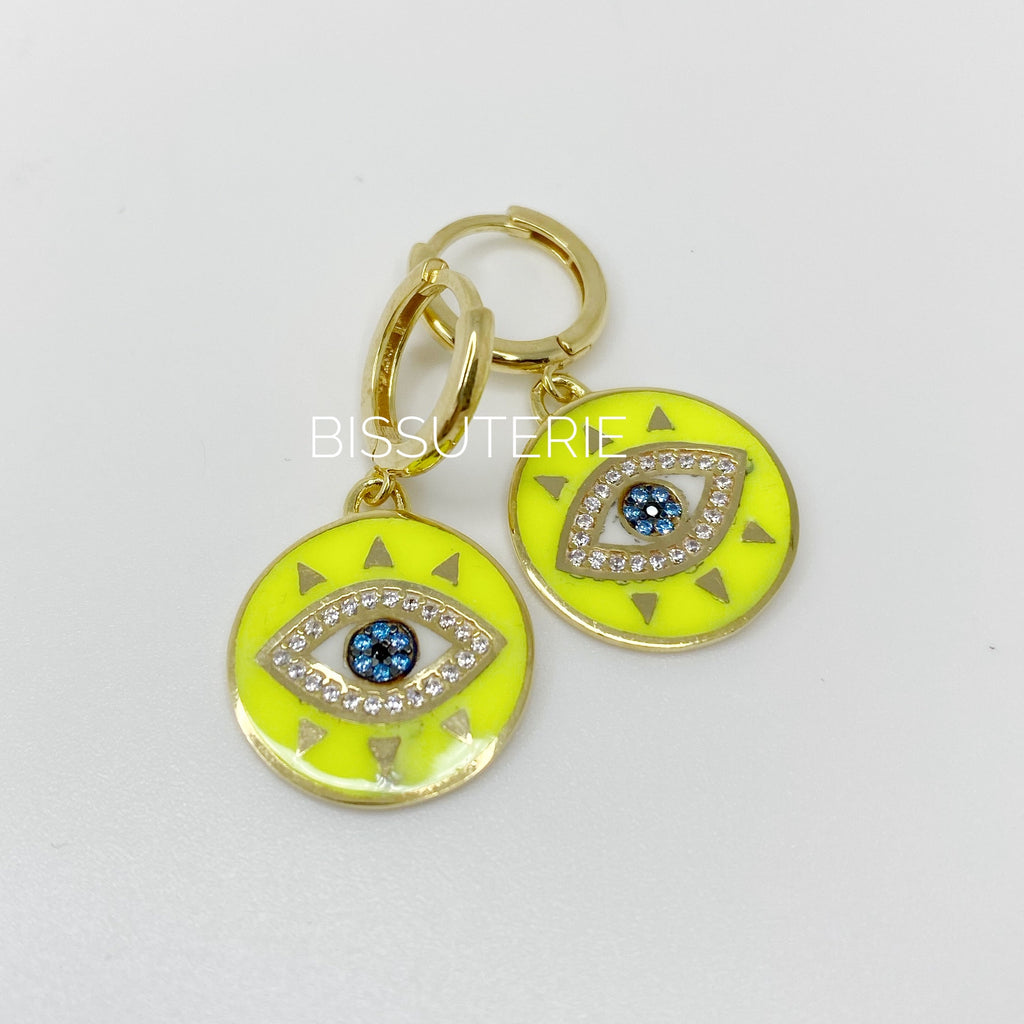 Coin eye Earrings
