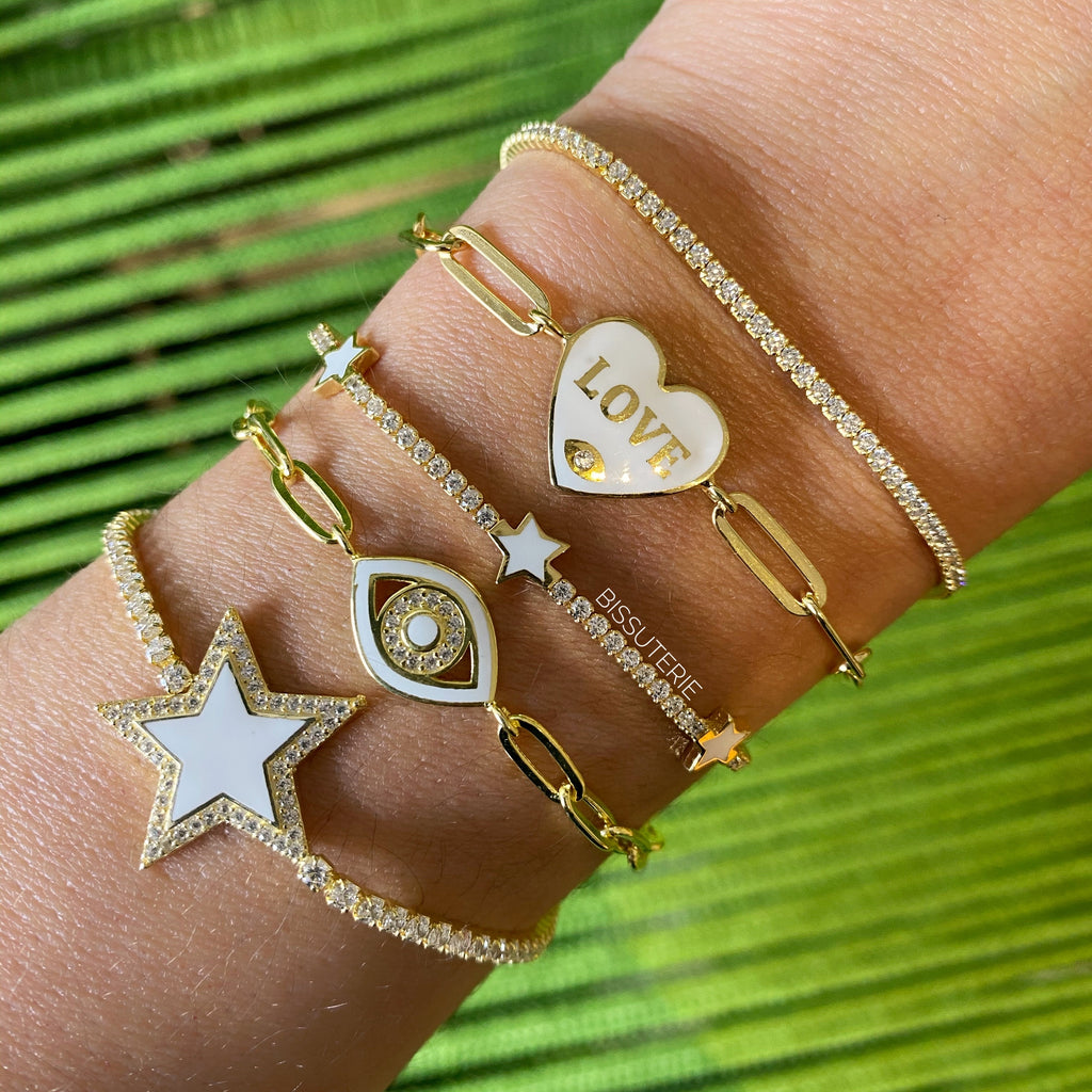 Love White heart Bracelet