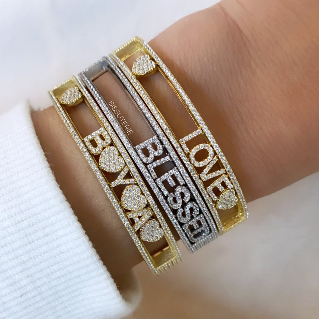 Dancing letters bangle
