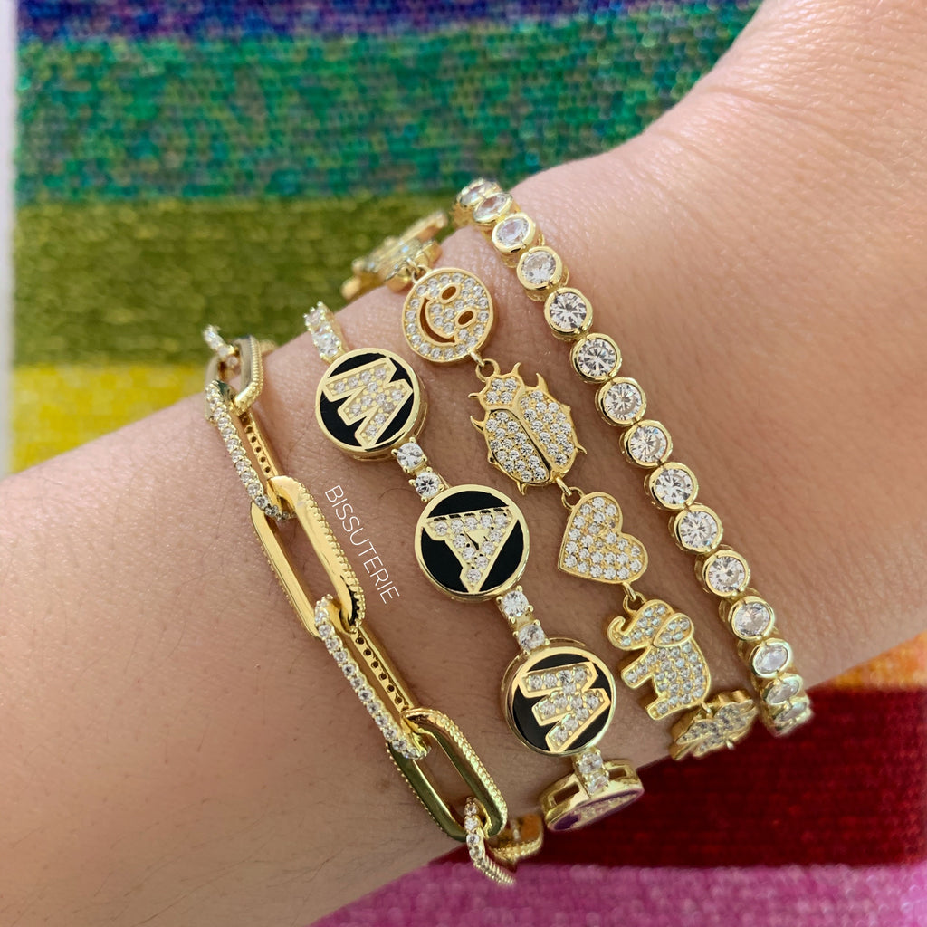 Black and gold stack
