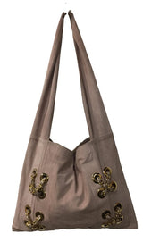 INFINITY Soft Mauve Leather Crossbody or Shoulder Bag