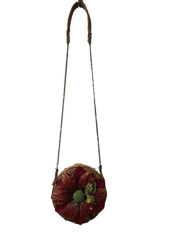Mary Frances Happy Bloom Round Crossbody Shoulder Bag