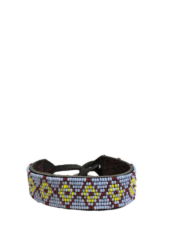 CHAN LUU Leather Bracelet in Lilac, Yellow and Brown Seed Bead - My Secret Closet - Ladies Boutique New And Consignment