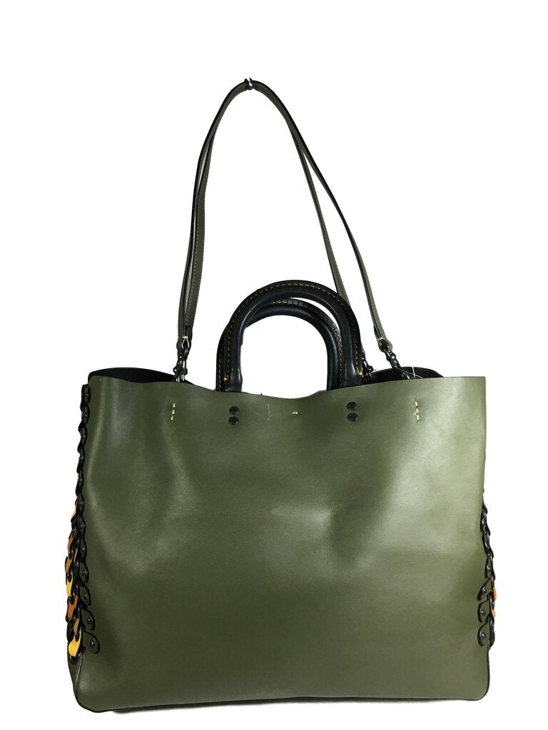 COACH Green Genuine Glovetanned Leather Shoulder Tote Bag - My Secret Closet - Ladies Boutique New And Consignment