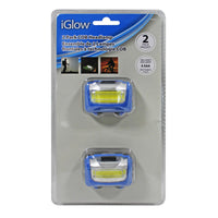 Iglow Cob Pivot Headlamp-2/Pack