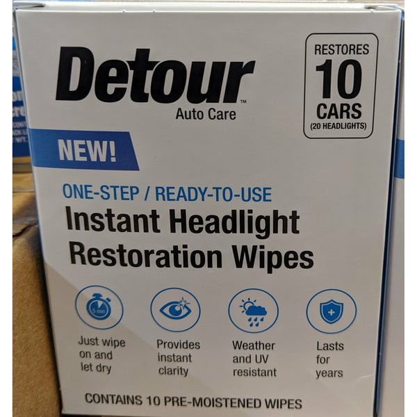 auto Headlight restoration wipes - 10 pack