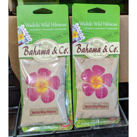 2 PACK auto scent  - BAHAMA POUCH - WAIKIKI WILD HIBISCUS - Car Air feshners