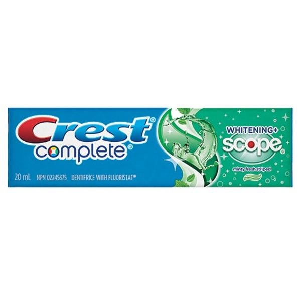 BULK OFFER - 36 Packs - CREST COMPLETE w/ SCOPE TOOTHPASTE 20mL