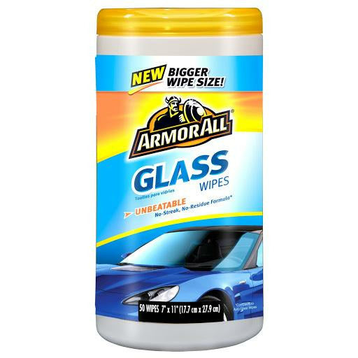 auto ArmorAll® Glass Wipes 50 count tub