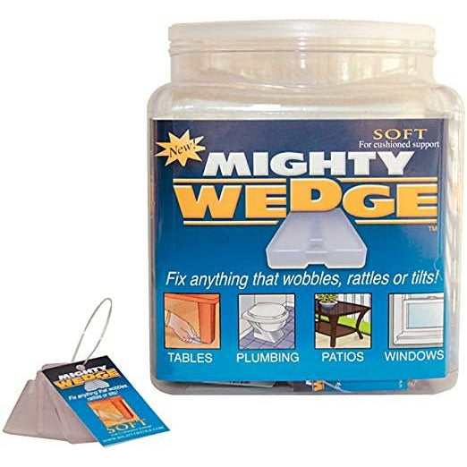 Mighty Wedge Clear Soft - leveling wedges - 3 wedges - 2guysonline.ca