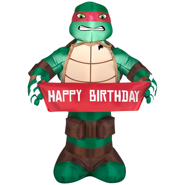 3.5' High Inflatable for indoor or outdoor Ninja Turtle - 2guysonline.ca