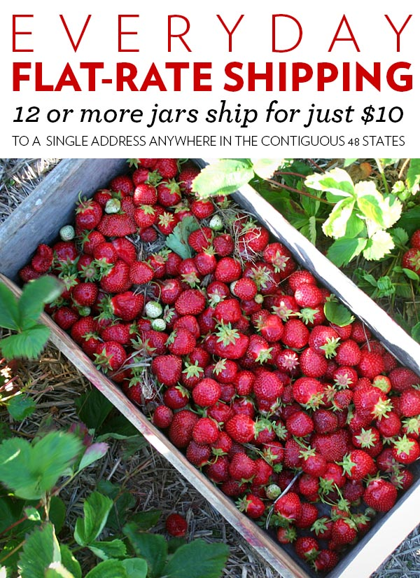 Everyday Flat-Rate Shipping: 12 jars or more ship free for just $10