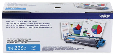 Brother High Yield Cyan Toner Cartridge (2200 Yield)