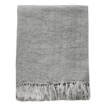Linen Throw - Concrete