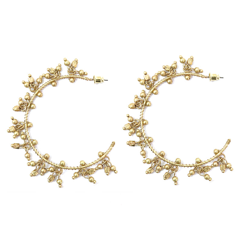 Rhiannon gold earrings