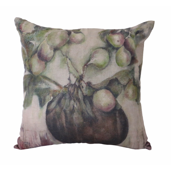 Ivy and Fig Linen Cushion