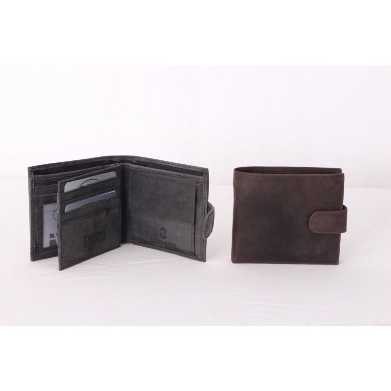 Mens Brown Distressed Leather Wallet