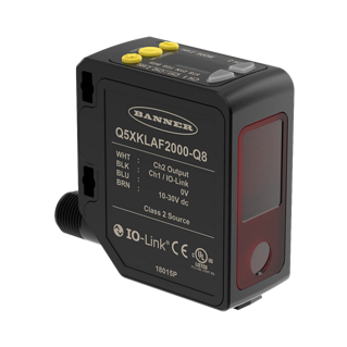 Q5X Series - High Power Mid-Range Photoelectric Sensor - Banner