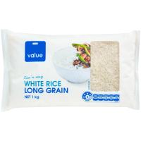 Value Long Grain White Rice 1kg