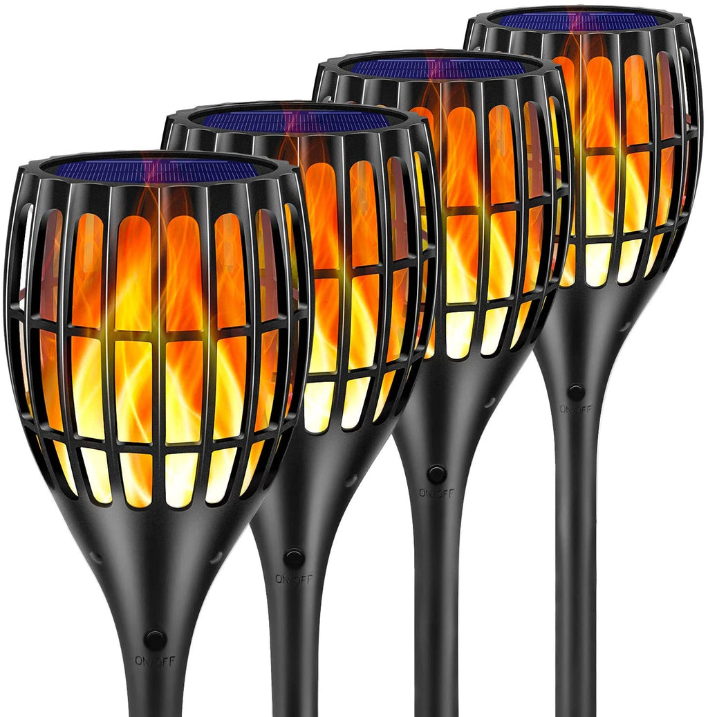 Solar Garden Light Flickering Flame Torches