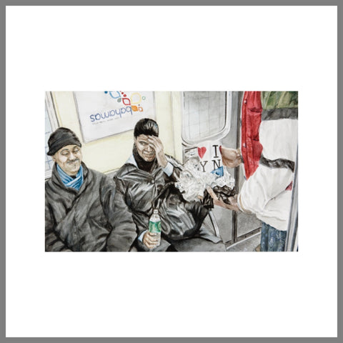 """Subway Spit Painting #3 (Transient Patrons)"""