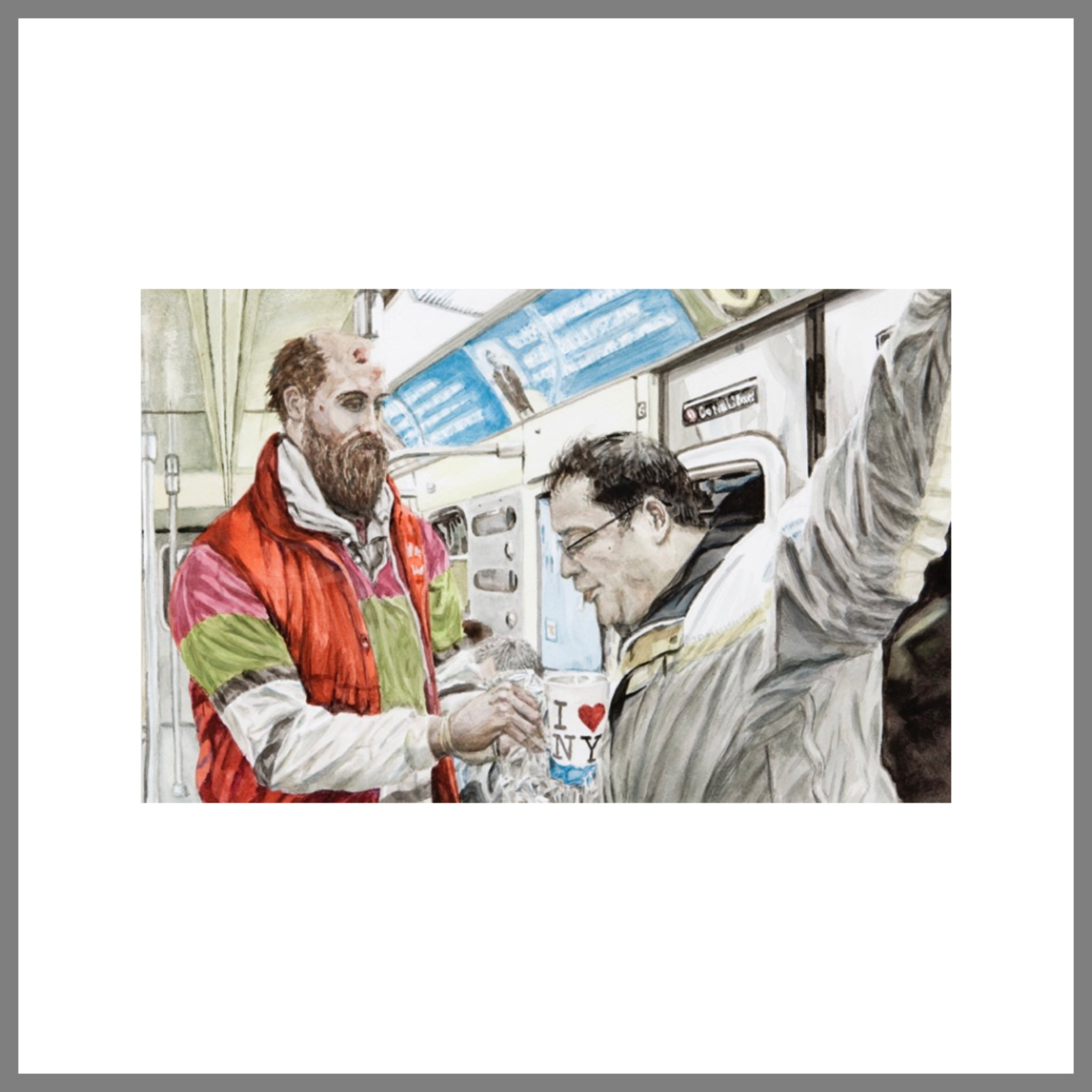 """Subway Spit Painting #5 (Transient Patrons)"""