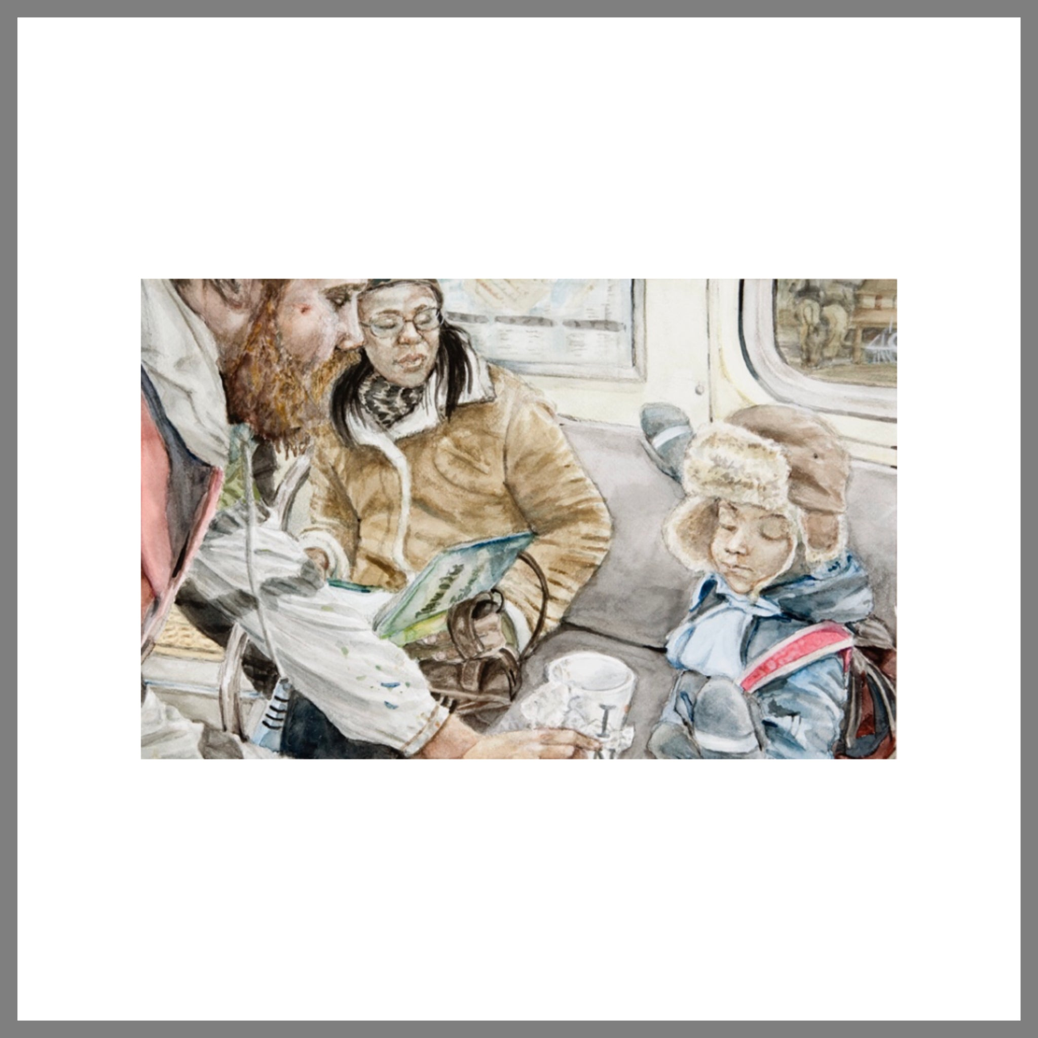 """Subway Spit Paintings #6 (Transient Patrons)"""