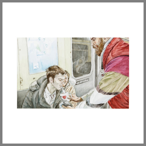 """Subway Spit Painting #7 (Transient Patrons)"""