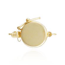 Load image into Gallery viewer, ITI Precious NYC Round Pearl Clasps with Safety Lock (12 mm)