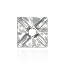 Load image into Gallery viewer, Square Plates for Round Stone with Flower Pattern (.05 ct - .10 ct)