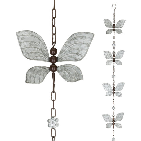Rain Chain - Butterfly Spinner