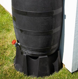 Rain Barrel - Black w/ Flat-back