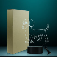 Load image into Gallery viewer, Dachshund Multi-Coloured LED Table Lamp