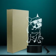 Load image into Gallery viewer, French Bulldog with Sunglasses Multi-Coloured LED Table Lamp