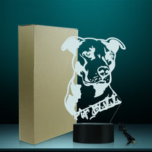 Load image into Gallery viewer, Pit Bull Terrier Multi-Coloured LED Table Lamp