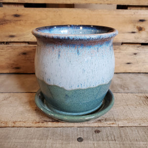 Lime Knot Blue Twilight Pot